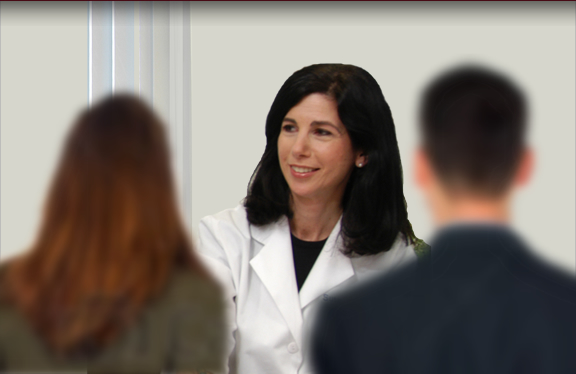 Dr. Susan Lobel meets with clients to offer infertility care.